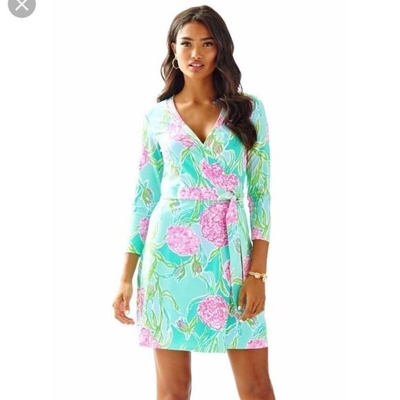 fa13d29be7dee2 Lilly Pulitzer Dresses | 200 Meridan Wrap Dress Xs | Poshmark